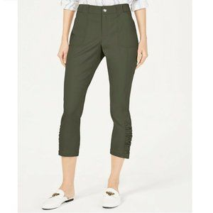 INC 8 Urban Olive Green Cropped Pants NWT CF36